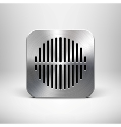 Metallic speaker icon vector
