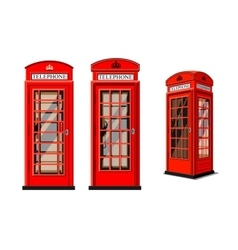 Phone box in london vector