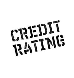 credit rating rubber stamp vector image