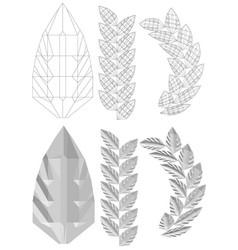 Carved leaf vector