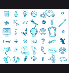 education doodle icons vector image