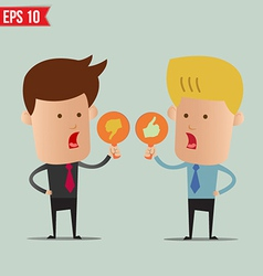 Business man show sign idea - - eps10 vector