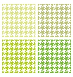 Tile green houndstooth background set vector