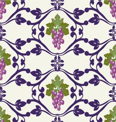 Grapes pattern grape vines seamless background vector