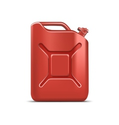 Blank red jerrycan canister gallon oil cleanser vector