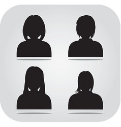Avatar profile icon head silhouette vector