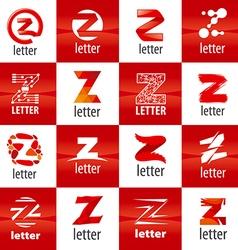 Large set of logo letter z vector