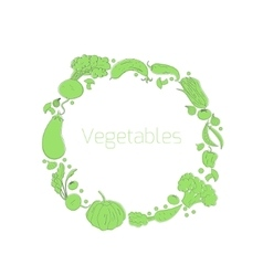 Wreath vegetables circle vector