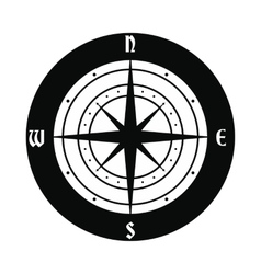 Ancient compass icon vector