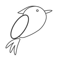 Cute bird animal icon vector