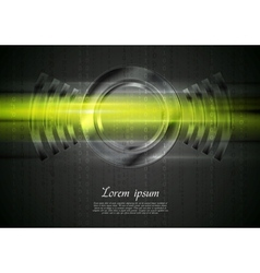 Abstract tech shiny glow background vector
