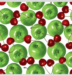 apple cherry vector image vector image