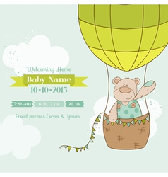 Baby shower card - with baby bear vector