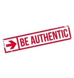 Be authentic stamp vector