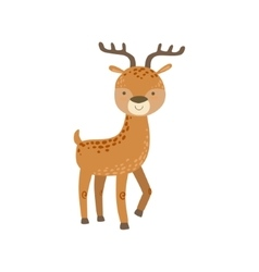 Brown Spotter Deer With Antlers Stading vector image vector image