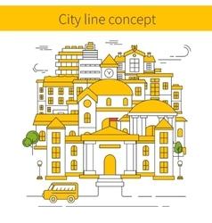 Building line concept vector