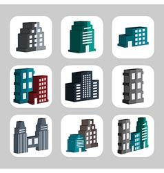 Buildings3 vector image vector image