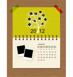 calendar2012 january vector image vector image