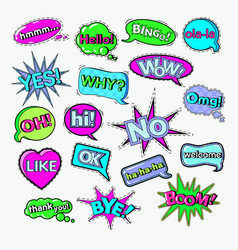 Comic speech bubbles chat communication shapes vector