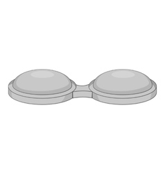 Contact lens container icon gray monochrome style vector