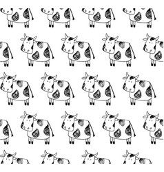 Cow pattern vector