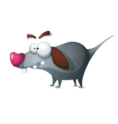 Crazy dog - funny cartoon characters vector