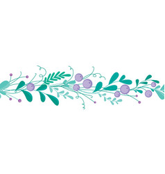 cute seamless border with hand-drawn floral vector image vector image