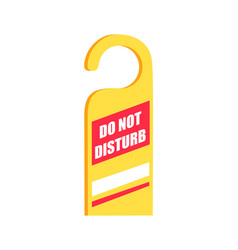 Do not disturb sign icon vector