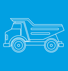 Dump truck icon outline vector
