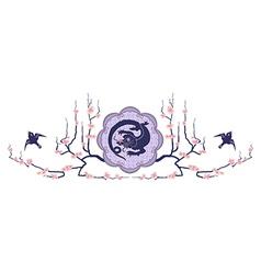 east dragon vector image vector image