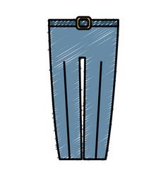 Elegant pants icon vector