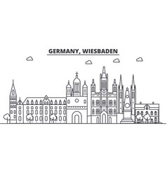 germany wiesbaden architecture line skyline vector image