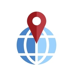 Globe pin icon vector image vector image