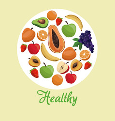 healthy food fruit concept vector image vector image