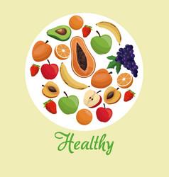 healthy food fruit concept vector image