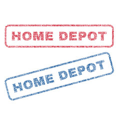 Home depot textile stamps vector