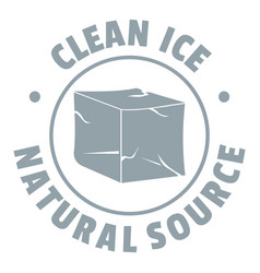 ice cube logo simple gray style vector image