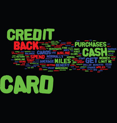 Maximum return on your credit cards text vector