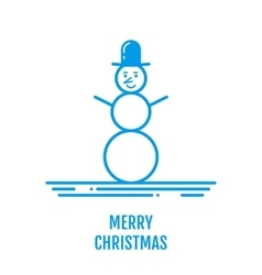 Merry Christmas concept with snowman in hat in vector image vector image