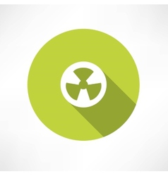 Radioactive icon vector