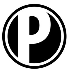 Round p logo vector