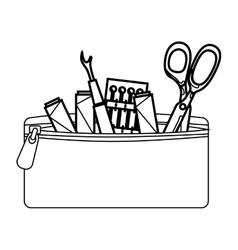 Sewing set isolated icon vector