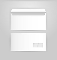 White envelope mockup template vector