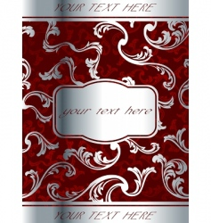 wine label template vector image vector image