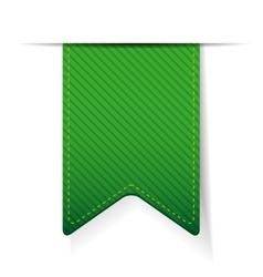 Empty green ribbon isolated vector