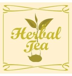 Label for herbal tea vector