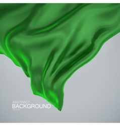 Green silk fabric vector