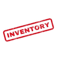 Inventory text rubber stamp vector