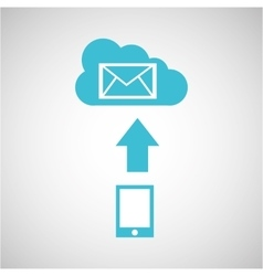 Device transfer cloud email envelope vector