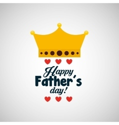 Celebration happy fathers day lettering vector